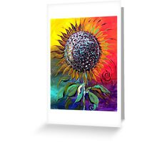SUNFLOWER Abstract, Colorful, Whimsical, Vivid ART from J. Vincent !! NICE, MUST SEE Greeting Card