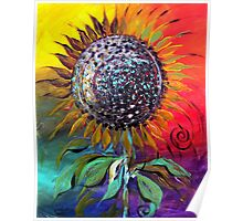 SUNFLOWER Abstract, Colorful, Whimsical, Vivid ART from J. Vincent !! NICE, MUST SEE Poster