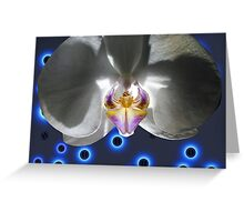 Orchid Alien Pilot White Greeting Card