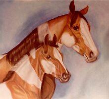 Pastel Pintos by WildestArt