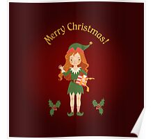 "Greeting Card ""Merry Christmas""  Poster"