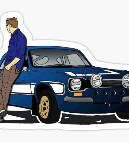 Paul Walker interpretation art - Fast Furious 7 Sticker