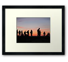 Sunset at Crescent Beach, BC - People Framed Print