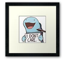 Quagsire's Unaware Activated Framed Print