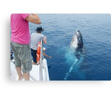 Whale saying Cheese Canvas Print