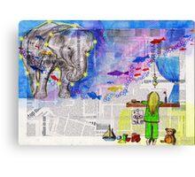 Night Sky Zoo Canvas Print
