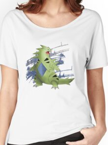 Tyranitar with Blue Rocky Scratches Women's Relaxed Fit T-Shirt