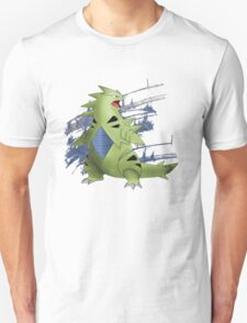Tyranitar with Blue Rocky Scratches Unisex T-Shirt