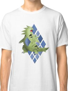 Tyranitar with Blue Diamond Pattern Classic T-Shirt