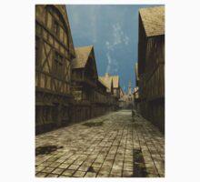 Deserted Mediaeval Street Scene Kids Tee