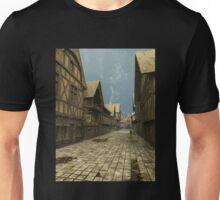 Deserted Mediaeval Street Scene Unisex T-Shirt