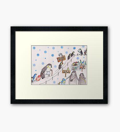 Snow Penguin Framed Print