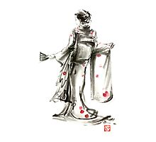 Geisha Japanese woman sumi-e original painting art print Photographic Print