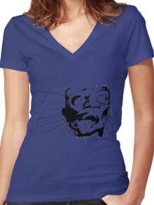hiroshima Women's Fitted V-Neck T-Shirt