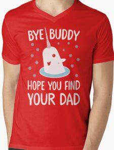 The Elf - Bye Buddy Hope You Find Your Dad! Mens V-Neck T-Shirt