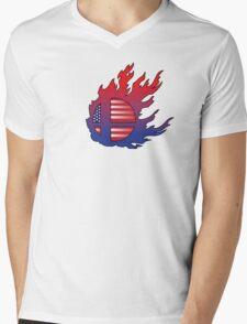 Super Smash Bros America Mens V-Neck T-Shirt