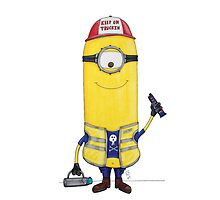 Trucker minion drawing by Robert  Taylor