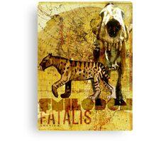 Smilodon fatalis Canvas Print