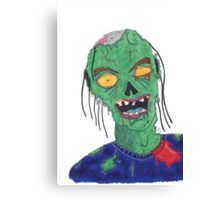 Zombie Drawing Canvas Print