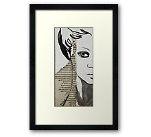 Portrait on Cardboard Framed Print