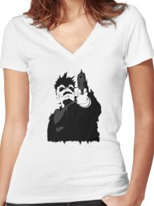"""""""look me in the eye and tell me i'm crazy"""" Women's Fitted V-Neck T-Shirt"""