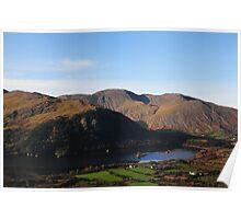 Glanmore Lake in Christmas light Poster