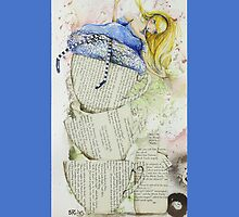 Alice and the Teacups Iphone cover by Sara Riches
