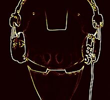Iron DJ pop art by Robert  Taylor