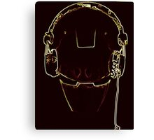 Iron DJ pop art Canvas Print