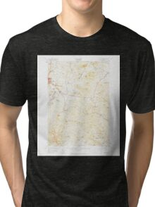 USGS Topo Map  Vermont VT East Barre 460012 1957 62500 Tri-blend T-Shirt