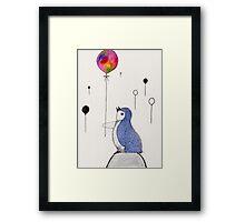 Balloon Penguin Framed Print