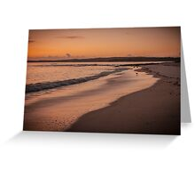 Hyams Beach at sunrise Greeting Card