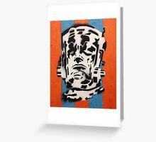 Galactus on Blue and Orange Greeting Card