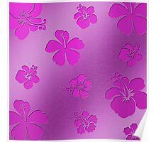 Aluminum Flowers pink Poster