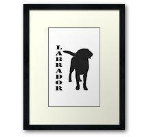 Black lab Framed Print