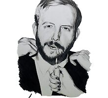 Justin Vernon/Bon Iver Drawing  by zoeandsons