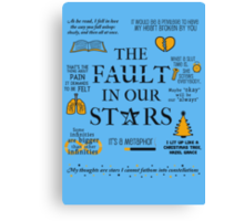 The Fault In Our Stars v.2 Canvas Print