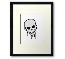 Skull Graffiti Framed Print