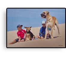 Dogs & Us Canvas Print