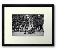 Barcelona street entertainers Framed Print