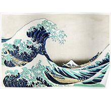 kanagawa Great Wave Oceanic design Poster