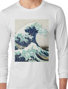 kanagawa Great Wave Oceanic design Long Sleeve T-Shirt