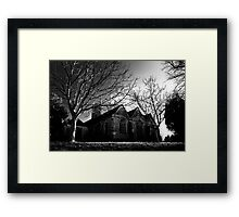 Church at the end of the lane Framed Print