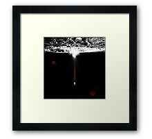 Moon Exit Framed Print