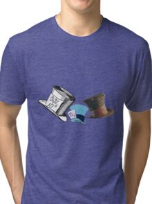Mad Hatter - All the hats Tri-blend T-Shirt