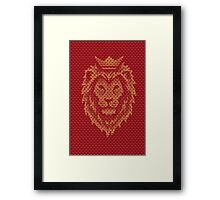 Lion Crown Framed Print