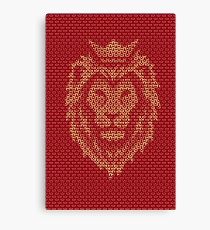 Lion Crown Canvas Print