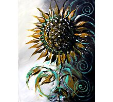 Abstract SUNFLOWER Art, Beautiful, Deep, Rich, Meaningful Scarpace Original Design Photographic Print