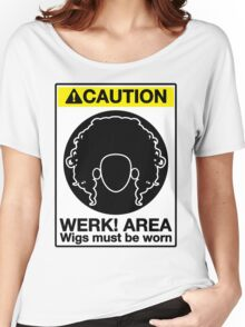 Please Wear Your Wig Women's Relaxed Fit T-Shirt