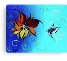 Abstract HUMMINGBIRD / FLOWER ART, Original design from J. Vincent, COLORFUL, MUST SEE Canvas Print